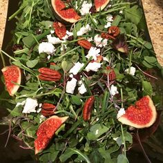 Last nights salad of Arugula Figs Candied Pecans Cranberries and a Pure Maple Syrup/Champagne Vinaigrette was pure heaven!! #salad #microgreens #catering #organic #eatclean #fitness #lowcarb #lowfat #paleo #glutenfree #organic #buzzfeedfood #snacks #foodie #urwhatupost #savuer #feedfeed @thefeedfeed #huffposttaste #mcewan #foodiepages #foodrepublic #finecooking #foodnetwork #foodwinewomen #vegetarian #healthyeating #livewell #foodporn #food52 #fitpic #urbangardenersrepublic by nancyscravings