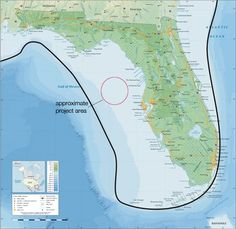 A modern map of Florida shows (with a dark line) the approximate location of