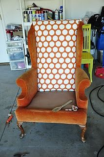 bought an awesome armchair for five dollars and still haven't done anything with it yet. Maybe i'll make this my summer project.