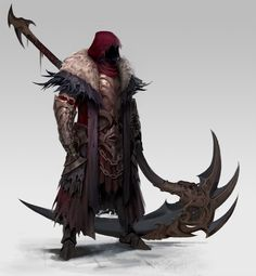Cody Waits saved to Character - Reaper, hyun-sung seo Fantasy Character Design, Character Design Inspiration, Character Concept, Character Art, Fantasy Armor, Fantasy Weapons, Dark Fantasy Art, Armor Concept, Weapon Concept Art
