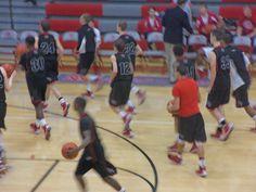 Jeff Broncho JV basketball team going to the locker room