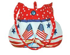 Patriotic Sweet Pea Tote Purse Handbag Summer by craftcrazy4u, $37.00