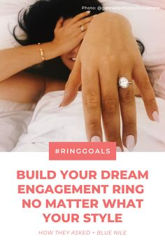 Vintage, round, halo or oval—no matter what your engagement ring style, you can create a beautiful diamond ring with Blue Nile. 💕 #ad Dream Engagement Rings, Engagement Ring Styles, Beautiful Diamond Rings, Schoolgirl, Blue Nile, Halo, Infinity, Dream Wedding, Bling