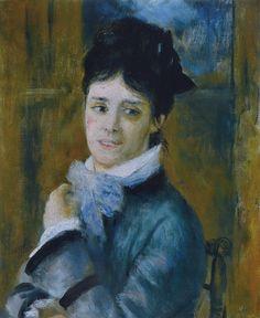 Madame Claude Monet, 1872. Pierre Auguste Renoir