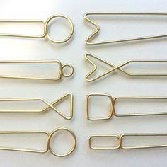 Hellbent brass hairpins