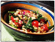 Make lunches easy with lentil Barley Salad - Upbeet Dietitian