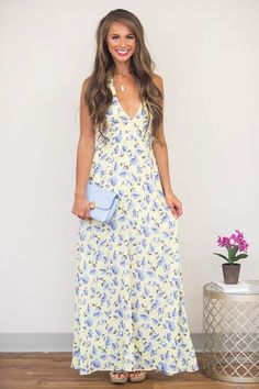 In The French Countryside Maxi Dress - The Pink Lily