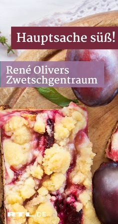 Hauptsache süß: René Olivers Zwetschgentraum zum Nachbacken Re… The main thing sweet: René Oliver's plum dream for baking René's fruity plum dream with sprinkles – the recipe for the main thing sweet! Brownie Desserts, Cute Desserts, Dessert Recipes, Dinner Recipes, Brownie Recipes, Salsa Verte, Pain Aux Olives, Tartiflette Recipe, Desserts Drawing