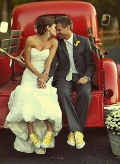 Wedding Photography: Wedding Cars and Matching Converse All Stars