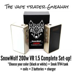 Check out this #SnowWolf 200w Giveaway @TheVapeTrader