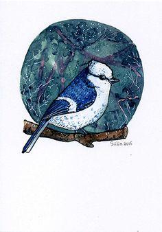 Для Hessu из Гуйттинена (ФИнляндия). Хессу - коллекционер открыток и марок. Собирает открытки на самые разнообразные темы. В основном - со всякими персонажами. Но есть в его више и открытки с животными и птицами. В пути - 16 дней.