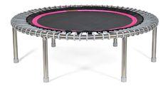 bellicon® Premium Mini-Trampolin, 112 cm, schwarz-pink, silber