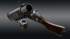 ArtStation - The Gnomon Workshop/ Creating a gun in Modo, Tor Frick Sci Fi Weapons, Weapon Concept Art, Weapons Guns, Fantasy Weapons, Guns And Ammo, Rifles, Homemade Weapons, Future Weapons, Maila