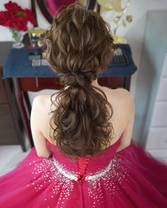 ・ ・ ・ ・ Low pony is also recommended ・ ・ ・ Most recent . Dinner Hairstyles, Wedding Hairstyles For Long Hair, Bride Hairstyles, Korean Bride, Lovely Girl Image, Hair Arrange, Wedding Dinner, Bridal Hair, Wedding Styles