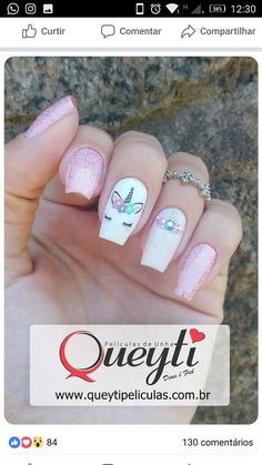 Trendy nails unicorn designs fun Ideas Many women prefer to visit the hairdresser even when they cannot have time … Black Acrylic Nails, Acrylic Nail Art, Acrylic Nail Designs, Nail Art Designs, Disney Nail Designs, Cute Nails, Pretty Nails, My Nails, Diy Unicorn