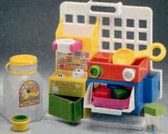 Fisher Price Toddler Kitchen From The 1980s Vintage Fisher Price Toys Fisher Price Toys Childhood Toys