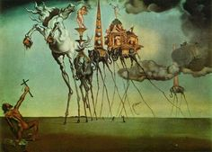Salvador Dali. The Temptation of St.Anthony. 1946. Oil on canvas