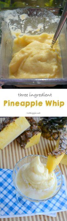 three ingredient pineapple whip | so good and so easy! - NoBiggie.net