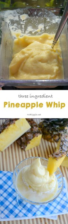 three ingredient pineapple whip | so good and so easy! - NoBiggie.net