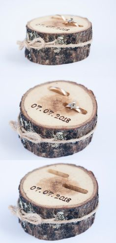 New Photo Rustic Ring Bearer Pillow, Wedding Wood Disc, Rustic Ring Box, Birch Wedding De Suggestions Are you currently searching for inexpensive wedding rings? At EFES you can find wedding rings from N Birch Wedding, Fall Wedding, Wedding Rustic, Wedding Hair, Dream Wedding, Wedding Table, Wedding Ceremony, Wedding Stuff, Wedding Cakes