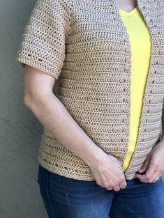 The Spring Cardi-a Free Crochet Cardigan Pattern - ChristaCoDesign Crochet Cardigan Pattern, Granny Square Crochet Pattern, Crochet Jacket, Crochet Blouse, Crochet Shawl, Free Crochet, Knit Crochet, Crochet Patterns, Shawl Patterns