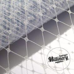 "9/"" Hat Veiling Birdcage Netting Gray By the Yard Net V-1"