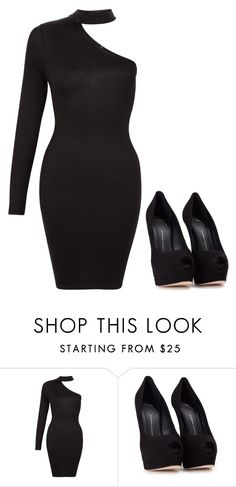 """Black"" by rasberry893 on Polyvore featuring Giuseppe Zanotti"