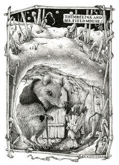 にしざかひろみ ホームページ/HIROMI NISHIZAKA  -  Thumbelina and Mrs. Field Mouse