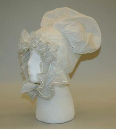 Mobcap American or European ca. Early 19th Century