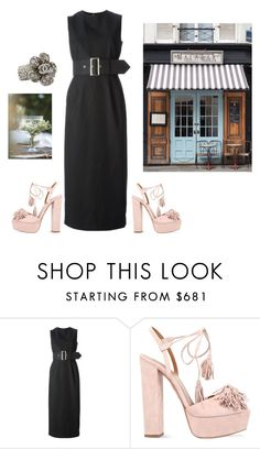 """cocktails before cocktail hour"" by kellbell823 ❤ liked on Polyvore featuring Comme des Garçons, Aquazzura, Chanel, Malabar, wedding, LBD, cocktails and guest"