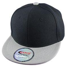 f6475c14616ea Blank Acrylic Snapback Cap - Kids - Black Light Grey