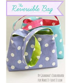 Tutorial: Reversible bag for little girls store.mkbagstosale.com #discount mk bags#MK bags $61.99 for your best gift for self!