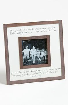 Ben's Garden 'Our Family' Picture Frame (3x3) available at #Nordstrom