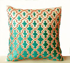 Amore Beaute Throw Pillow Covers - Teal Orange Decorative... http://www.amazon.com/dp/B00O52CH4G/ref=cm_sw_r_pi_dp_nXdpxb1KQR90Z