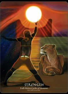 #tarotaffirmation ~ I possess the strength and fortitude needed to get through life's difficulties. ~ Strength  #Icandoit, #pullingfromresources, #affirmations,  #tarot, #journeyintoegypttarot, #foolsdogtarot
