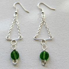 Video:  How to make Funky wire and chain earrings.   #Wire #Jewelry #Tutorials