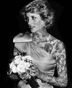 Diana, Princess of Wales if she were tattooed.