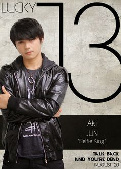 Aki Torio as Jun Morales - The Selfie King Lucky 13 Talk Back You're Dead Cast Boys Names All Names Pictures Information Videos Latest News Name Pictures, Funny Pictures, Talking Back, You're Dead, All Names, Jadine, Gangsters, Local Artists, Jun