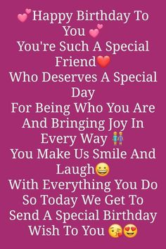 Birthday Wishes For A Friend Messages, Happy Birthday Best Friend Quotes, Birthday Wishes For Lover, Happy Birthday Wishes For A Friend, Special Birthday Wishes, Birthday Wish For Husband, Birthday Quotes For Best Friend, Birthday Blessings, Quotes For Status
