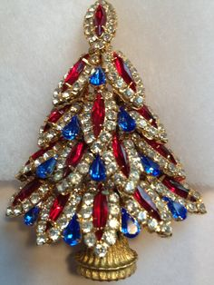 Vintage Dorothy Bauer Christmas Tree Featured in Christmas Pins Past Present | eBay $ 205.38