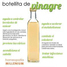 Tanto el vinagre de manzana como el vinagre blanco tienen propiedades muy benéficas para la salud, la belleza y el hogar, conoce algunas de ellas #LABORATORIOMILLENIUM