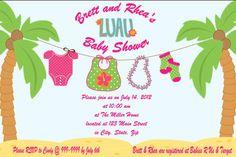 WINNER!!! Baby Shower Luau Invites