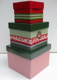 Boxen - Kisten rot/grün klassisch - Schachteln von kunstbedarf24 auf DaWanda.com