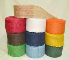 ♥ Natural Jute Burlap Hessian Ribbon Scrim Tape Rustic Weddings Crafts Floristry