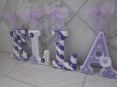 CUSTOM Hanging Wall Letters for Nursery or Kids by SoooooCute, $8.00