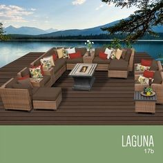 Firepit Makeover  TKC Laguna 17 Piece Outdoor Wicker Patio Furniture Set * This is an Amazon Associate's Pin. Find the item on Amazon website by clicking the VISIT button.
