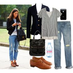 Brogue Chic by beyondtheblue on Polyvore featuring J.Crew, Gap and Evian