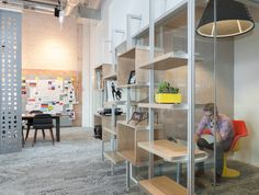 """Chicago's VSA Partners on Design With a """"Big D"""" as the Ultimate Business Tool     Eye on Design Chicago, Shelves, Architecture, Big, Business, Rooms, Furniture, Studio, Design"""