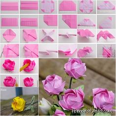 """How to diy pretty origami rose DIY Origami Kawasaki Rose DIY Origami Kawasaki Rose """" If you love origami, you should try this beautiful origami kawasaki rose. Even you don't really love origami, you may still want to learn how to. Origami is the tradi Diy Origami, Origami And Kirigami, Origami Ball, How To Make Origami, Paper Crafts Origami, Diy Paper, Dollar Origami, Cardboard Paper, Origami Instructions"""