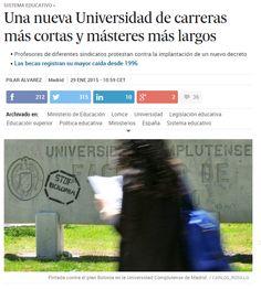 Una nueva Universidad de carreras más cortas y másteres más largos / @el_pais | #universidadencrisis